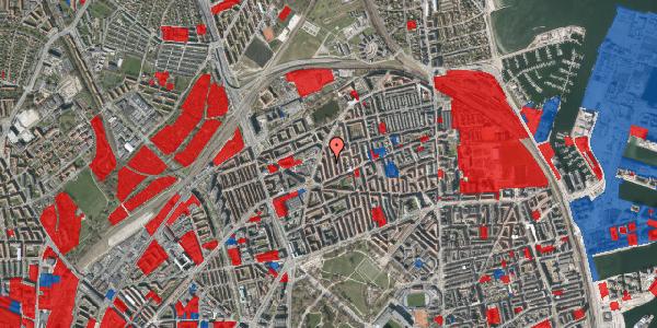 Jordforureningskort på Lange-Müllers Gade 13, 4. tv, 2100 København Ø
