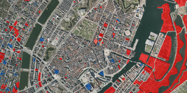 Jordforureningskort på Ny Østergade 23, 5. tv, 1101 København K