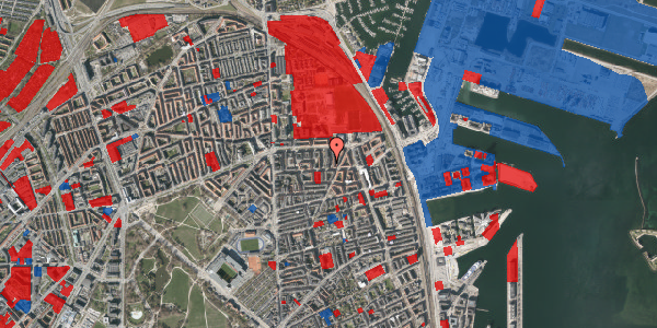 Jordforureningskort på Svendborggade 1, 3. 50, 2100 København Ø