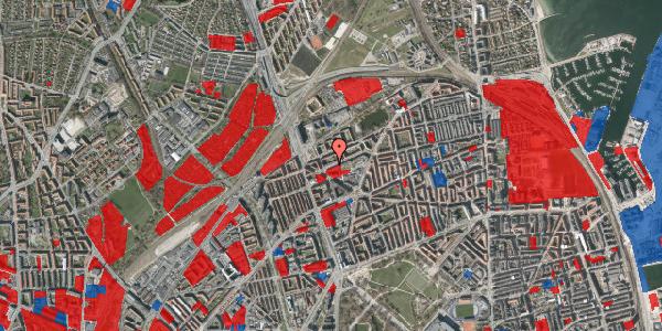 Jordforureningskort på Venøgade 7, 1. tv, 2100 København Ø