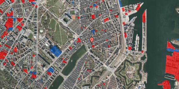 Jordforureningskort på Willemoesgade 5, 1. th, 2100 København Ø