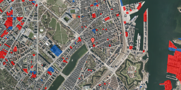 Jordforureningskort på Willemoesgade 6, 1. th, 2100 København Ø