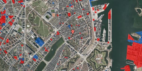 Jordforureningskort på Willemoesgade 22, 5. tv, 2100 København Ø