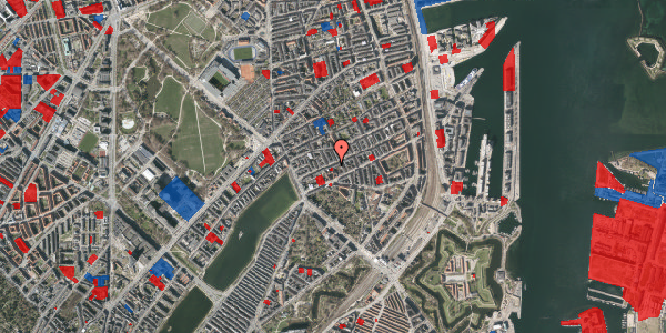 Jordforureningskort på Willemoesgade 26, 1. th, 2100 København Ø