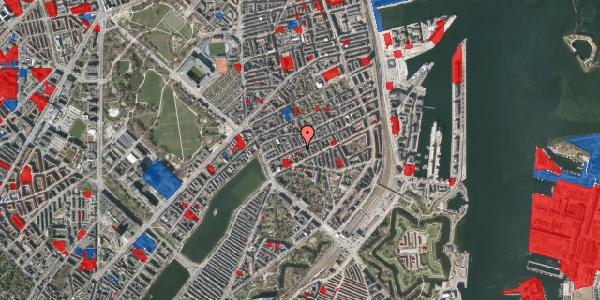 Jordforureningskort på Willemoesgade 28, 1. th, 2100 København Ø