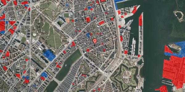 Jordforureningskort på Willemoesgade 30, 1. th, 2100 København Ø