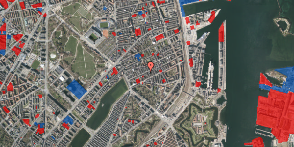 Jordforureningskort på Willemoesgade 34, 3. th, 2100 København Ø
