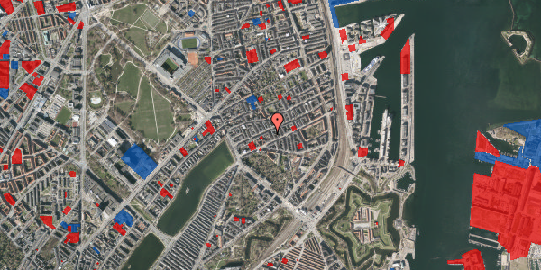Jordforureningskort på Willemoesgade 36, kl. 3, 2100 København Ø