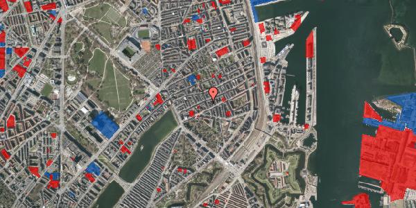 Jordforureningskort på Willemoesgade 40, 1. tv, 2100 København Ø