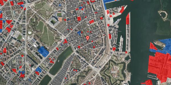Jordforureningskort på Willemoesgade 42, 1. th, 2100 København Ø
