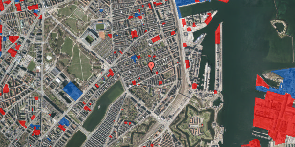 Jordforureningskort på Willemoesgade 46, 1. tv, 2100 København Ø