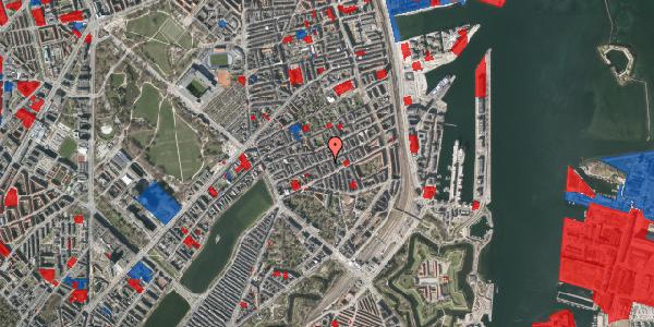 Jordforureningskort på Willemoesgade 48, st. tv, 2100 København Ø