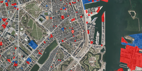 Jordforureningskort på Willemoesgade 52, 4. tv, 2100 København Ø