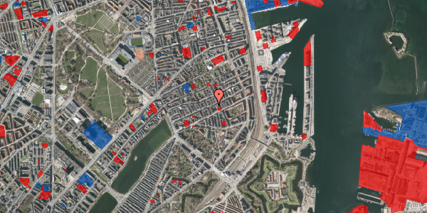 Jordforureningskort på Willemoesgade 54, 1. tv, 2100 København Ø