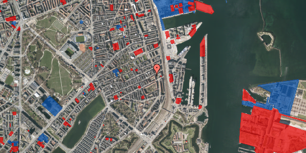 Jordforureningskort på Willemoesgade 74, 4. 3, 2100 København Ø