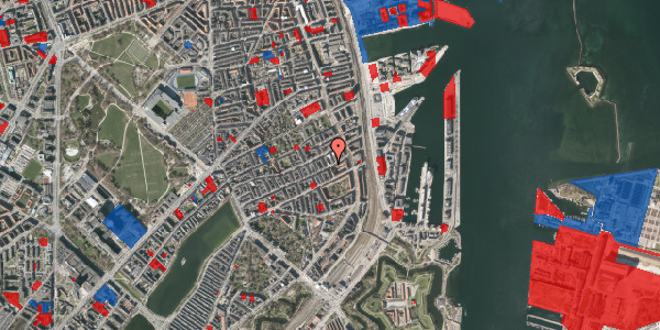 Jordforureningskort på Willemoesgade 81, 1. th, 2100 København Ø