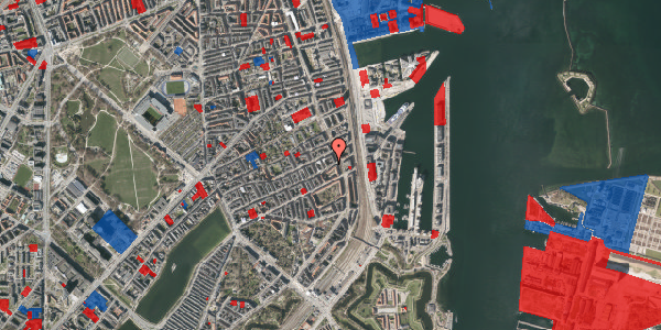 Jordforureningskort på Willemoesgade 87, 1. tv, 2100 København Ø