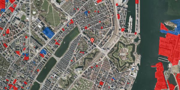 Jordforureningskort på Visbygade 12A, 1. th, 2100 København Ø