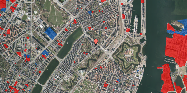 Jordforureningskort på Visbygade 12, 1. tv, 2100 København Ø