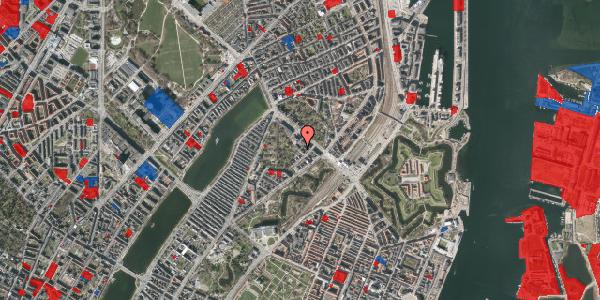 Jordforureningskort på Visbygade 14, 1. tv, 2100 København Ø