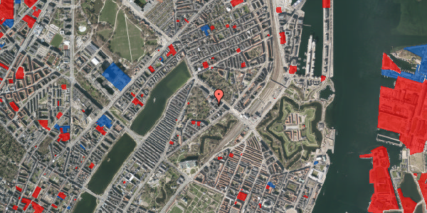 Jordforureningskort på Visbygade 14, 3. th, 2100 København Ø