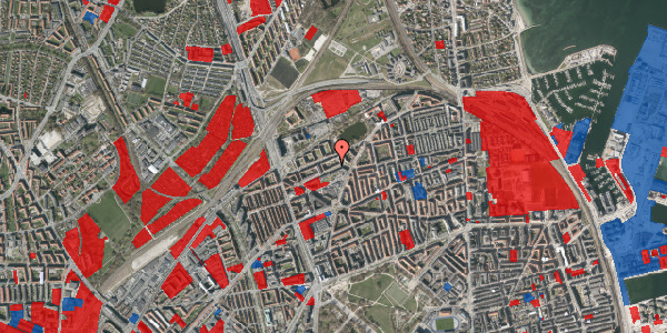 Jordforureningskort på Vognmandsmarken 36, 1. th, 2100 København Ø