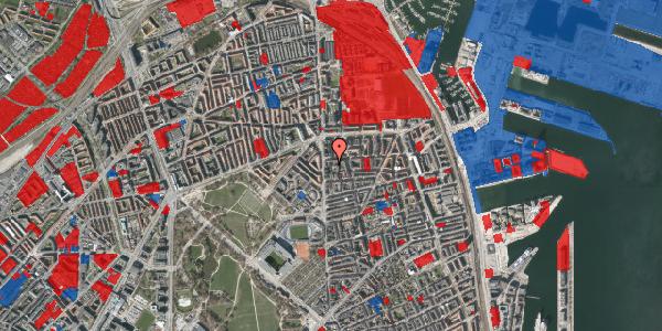 Jordforureningskort på Vordingborggade 4B, 1. th, 2100 København Ø