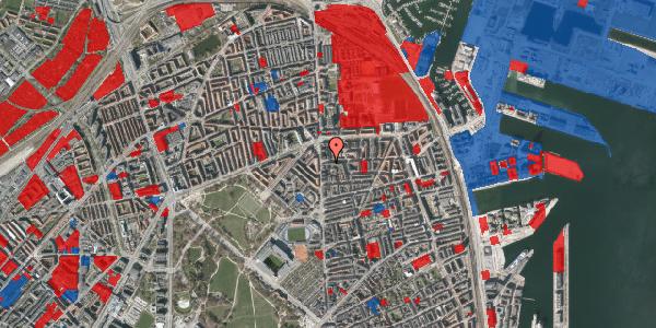 Jordforureningskort på Vordingborggade 4, 3. th, 2100 København Ø