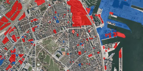 Jordforureningskort på Vordingborggade 6C, st. 1, 2100 København Ø