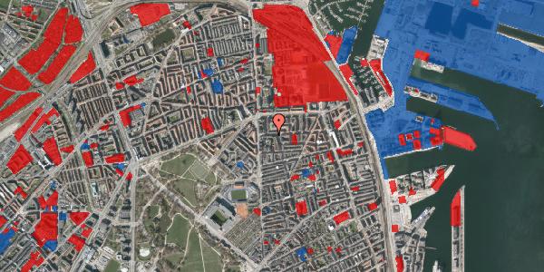 Jordforureningskort på Vordingborggade 6F, st. 1, 2100 København Ø
