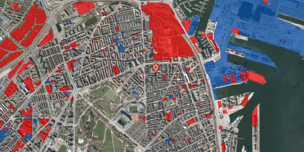 Jordforureningskort på Vordingborggade 6F, 1. 13, 2100 København Ø