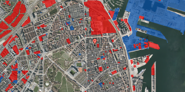 Jordforureningskort på Vordingborggade 6J, 3. 33, 2100 København Ø