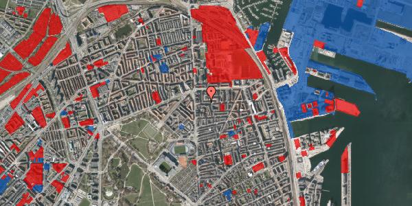 Jordforureningskort på Vordingborggade 9, 1. th, 2100 København Ø