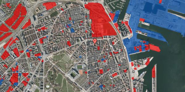 Jordforureningskort på Vordingborggade 13, 1. th, 2100 København Ø