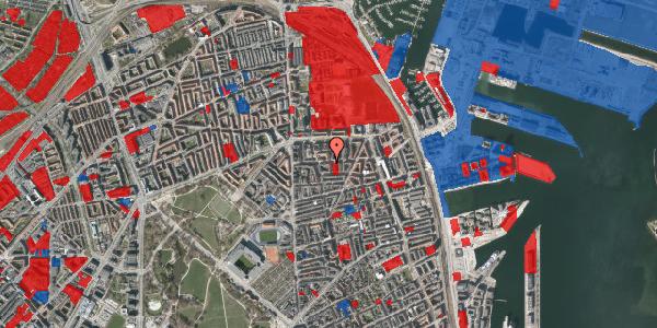 Jordforureningskort på Vordingborggade 24, 3. th, 2100 København Ø