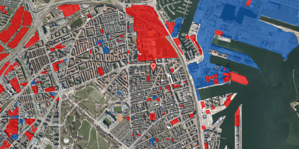 Jordforureningskort på Vordingborggade 27, 1. th, 2100 København Ø