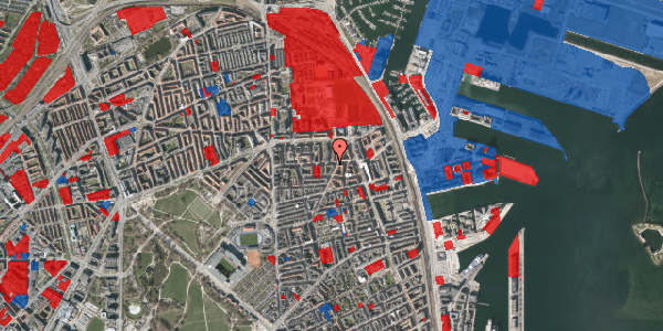 Jordforureningskort på Vordingborggade 36, 1. tv, 2100 København Ø