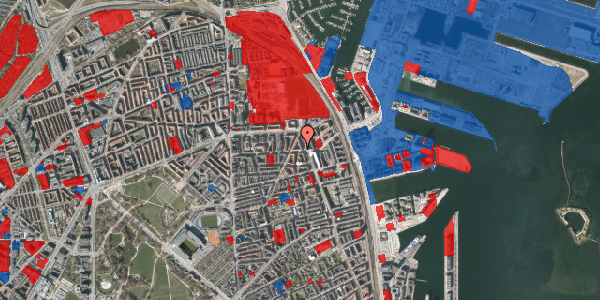 Jordforureningskort på Vordingborggade 39, 5. , 2100 København Ø