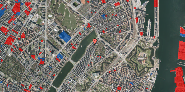 Jordforureningskort på Zinnsgade 6, 5. th, 2100 København Ø