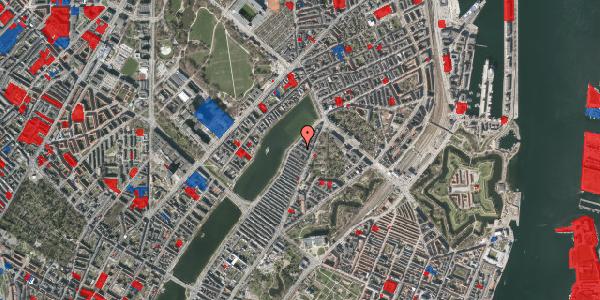 Jordforureningskort på Zinnsgade 9, 3. th, 2100 København Ø