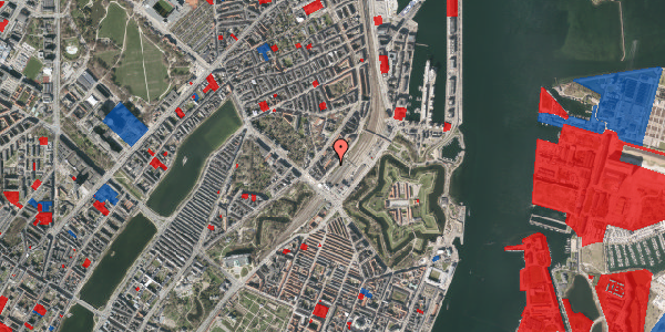 Jordforureningskort på Østbanegade 7, 4. tv, 2100 København Ø