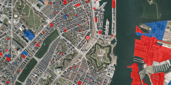 Jordforureningskort på Østbanegade 11, 1. th, 2100 København Ø