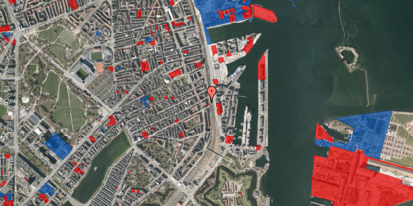 Jordforureningskort på Østbanegade 55, 1. tv, 2100 København Ø