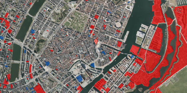 Jordforureningskort på Østergade 1, st. 1, 1100 København K