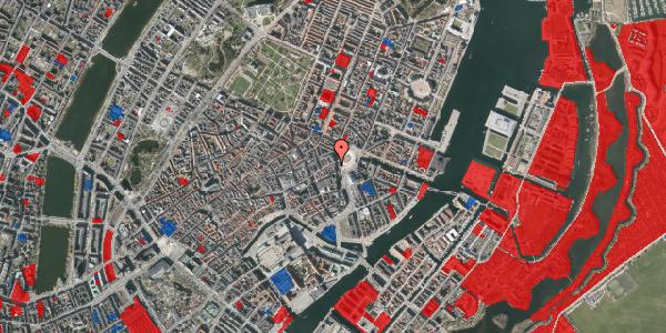 Jordforureningskort på Østergade 1, st. 2, 1100 København K