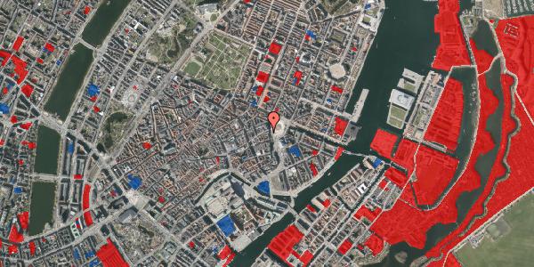 Jordforureningskort på Østergade 1, 3. th, 1100 København K