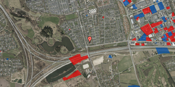 Jordforureningskort på Pilehavevænge 40, 2625 Vallensbæk