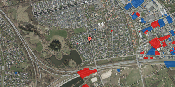 Jordforureningskort på Rendsagervej 144, 2625 Vallensbæk