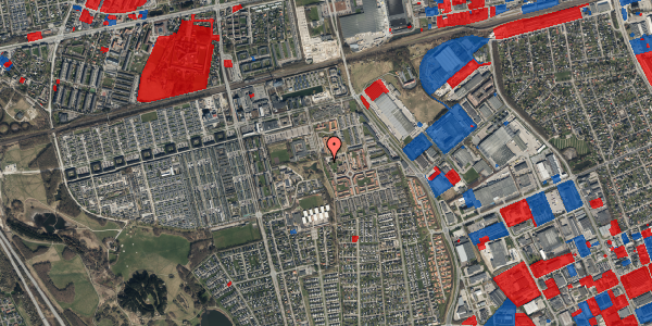 Jordforureningskort på Rosenlunden 44, 2625 Vallensbæk