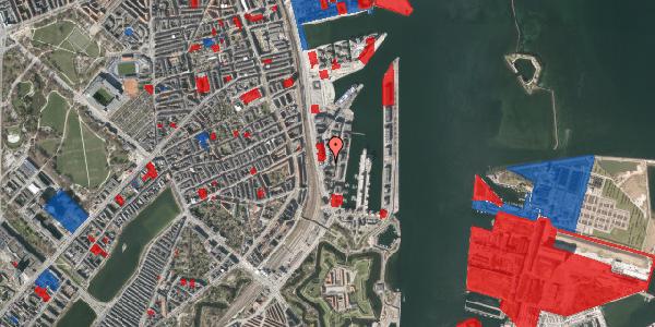 Jordforureningskort på Amerika Plads 4, 4. 1, 2100 København Ø